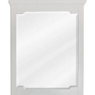 Jeffrey Alexander MIR105-30 28 x 34 Inch Framed Rectangular Vanity Mirror with Beveled Glass from the Chatham Shaker Collection