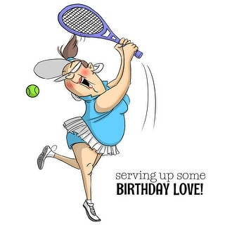 """Art Impressions People Cling Rubber Stamps 7""""X4""""-Birthday Love"""