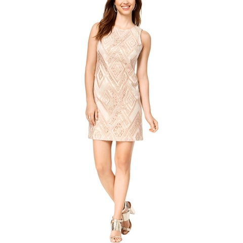 Vince Camuto Womens Party Dress Sequined Above Knee