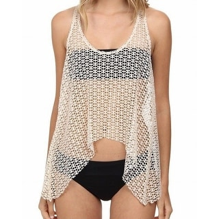 Ella Moss NEW White Ivory Women's Size XS Cover Up Knit Tank Top