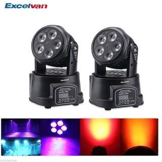2x DMX 512 Sound RGBWA LED Moving Head Light 75W 15CH Stage Disco DJ Party Club