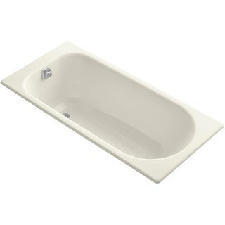 "Kohler K-941 Soissons 60"" Drop In Cast Iron Soaking Bath Tub with Reversible Drain"