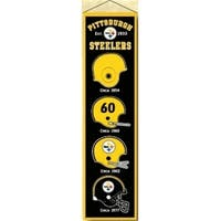 Pittsburgh Steelers Banner 8x32 Wool Heritage