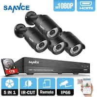 SANNCE 4CH 1080P HD 1080P Network Video Surveillance System 1TB