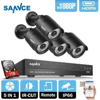 SANNCE 4CH 1080P HD 1080P Network Video Surveillance System 1TB