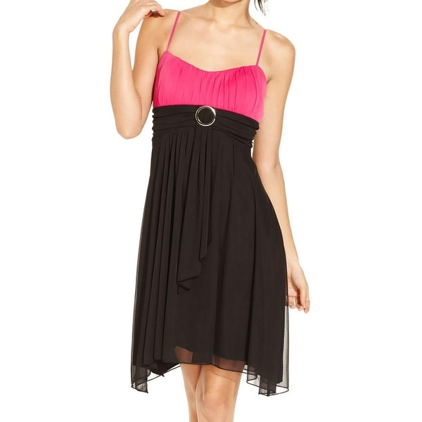 Shop Ruby Rox Womens Juniors Party Dress Two-Tone Pleated
