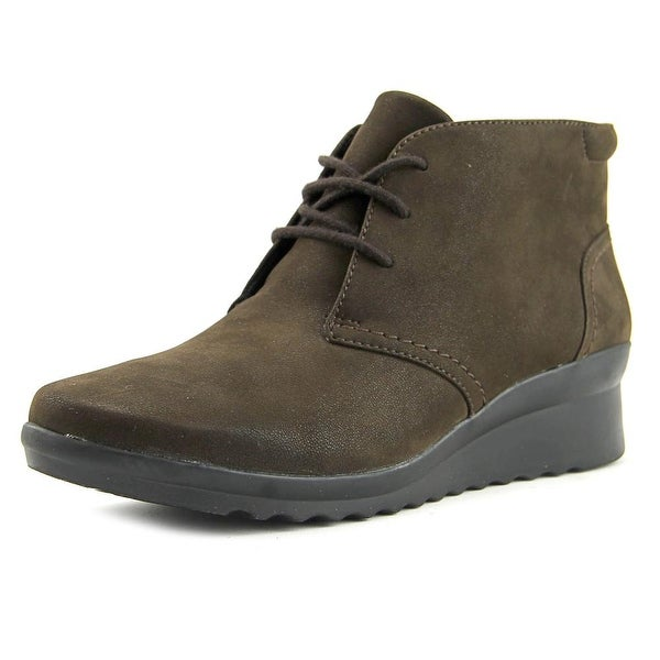 Clarks Narrative Cadell Hop Women Round Toe Canvas Brown Boot