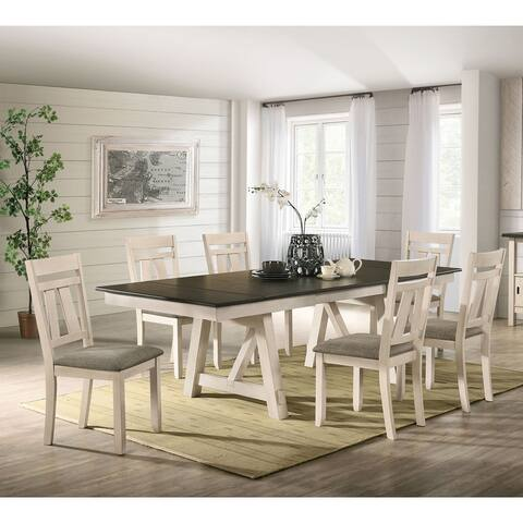 Furniture of America Caduceus Ivory 7-piece Dining Table Set