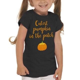 Cutest Pumpkin In The Patch Halloween Girl's T-shirt