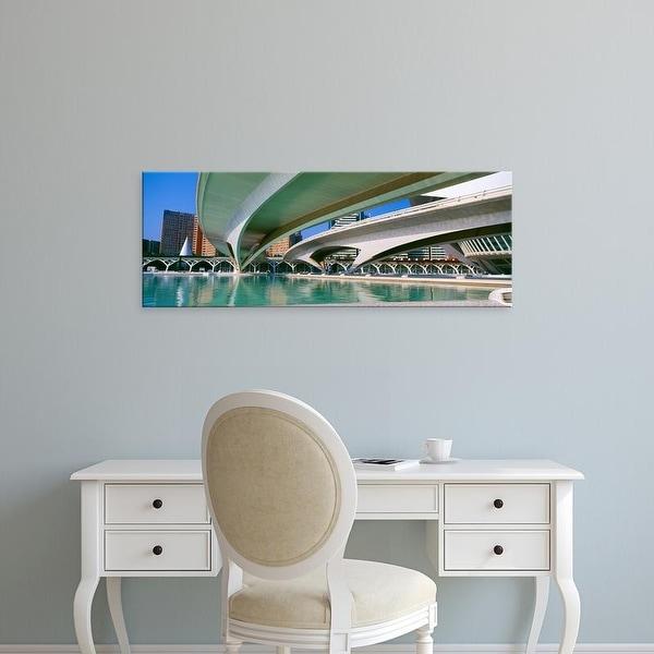 Easy Art Prints Panoramic Image 'L'Hemisferic Planetarium, El Palau De Les Arts Reina, Valencia, Spain' Canvas Art