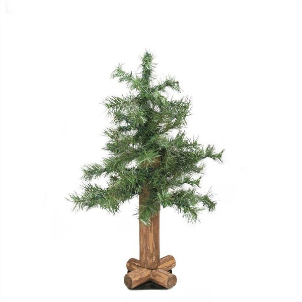 2' Traditional Mixed Green Woodland Alpine Artificial Christmas Tree - Unlit