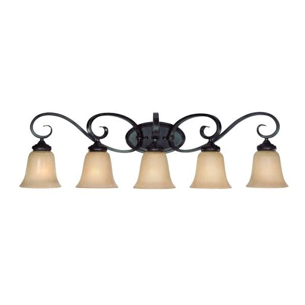 Jeremiah Lighting 25105 Stanton 5 Light Bathroom Vanity Light - 37 Inches Wide