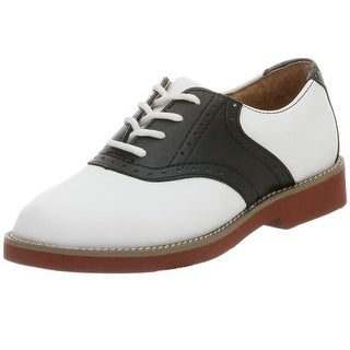 Jumping Jacks Womens Cheerleader III Leather Saddle Oxfords