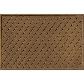 20377520035 Water Guard Argyle Mat in Dark Brown - 3 ft. x 5 ft.