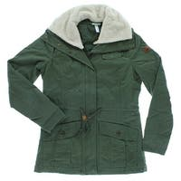 Adidas Womens Padded Sherpa Jackete Army Green - Army Green