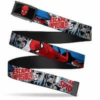 Marvel Comics Spider Man Face Fcg  Chrome The Amazing Spider Man Escape Web Belt