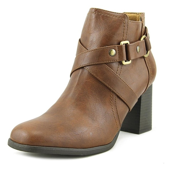 NaturalSoul by Naturalizer Coco Women Round Toe Synthetic Brown Bootie