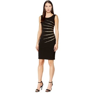 Calvin Klein Sequined Sleeveless Sheath Cocktail Dress