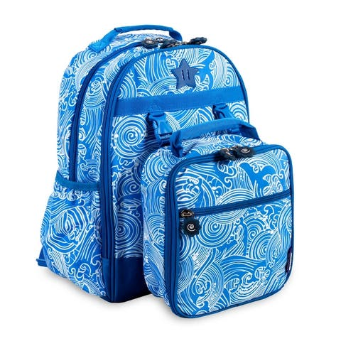 J World New York Duet Wave Kids Backpack and Lunch Bag Set