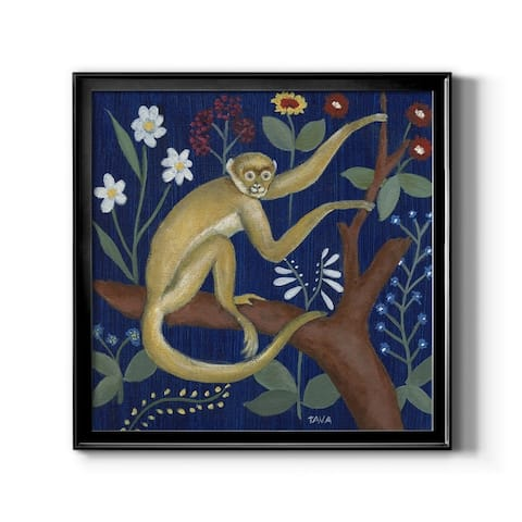 Tapestry Poodle-Framed Canvas - Ready to Hang