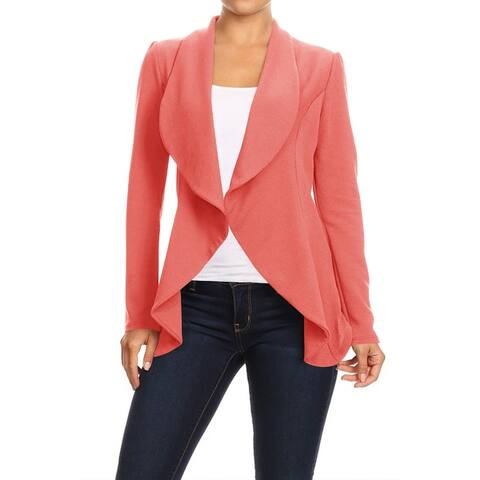 Women's Casual Office Work Solid Basic Blazer Jacket