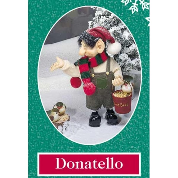 """10.5"""" Zims The Elves Themselves Donatello Collectible Christmas Elf Figure - multi"""