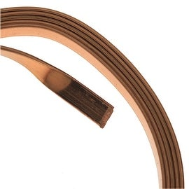 Artistic Wire, Flat Craft Wire 5mm 21 Gauge Thick, 3 Foot Coil, Antiqued Brass