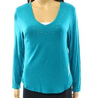 Betsey Johnson NEW Blue Studded Women's Size Small S Sleepshirt