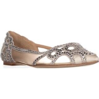 Badgley Mischka Gigi Pointed Toe Ballet Flats, Ivory