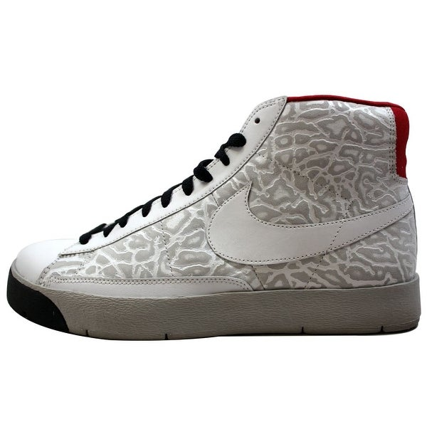 Nike Men's Blazer Hi Premium White/White-Granite-Black 316382-111