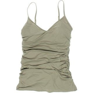 Vince Camuto Womens Ruched Draped One-Piece Swimsuit - 10