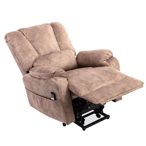 Power Lift Chair for Elderly Reclining Chair Sofa Electric Recliner Chairs with Remote Control Soft Fabric Sofa