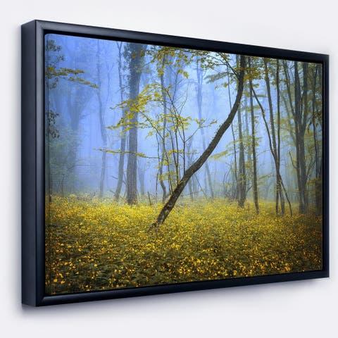 Designart 'Vintage Style Colorful Forest' Landscape Photography Framed Canvas Print