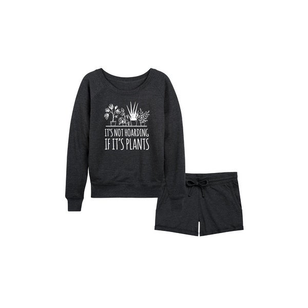 It's not Hoarding if Plants - Women's French Terry Shorts Set - Heather Charcoal. Opens flyout.