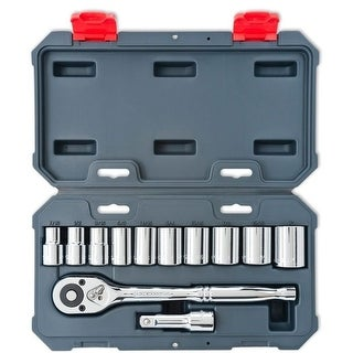 "Crescent CSWS11 1/2"" Drive Socket Wrench Set, 12-Piece"