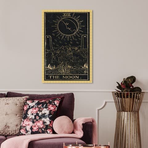 Oliver Gal 'The Moon Tarot' Spiritual and Religious Framed Wall Art Prints Astrology - Black, Gold