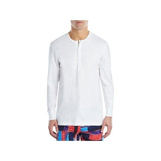 2(X)Ist Mens Sleep Shirt Henley Long Sleeves - L