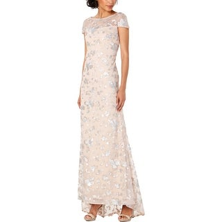 Link to Calvin Klein Womens Formal Dress Mesh Sequined - Nude/Silver Similar Items in Dresses