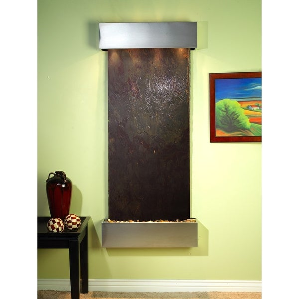 Adagio Inspiration Falls Fountain w/ Rajah Featherstone in Stainless Steel Finis