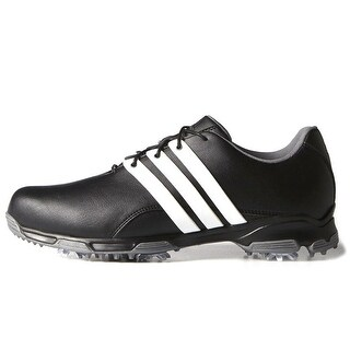 Adidas Men's Pure TRX Core Black/White/Dark Silver Metallic Golf Shoes F33238 / F33315