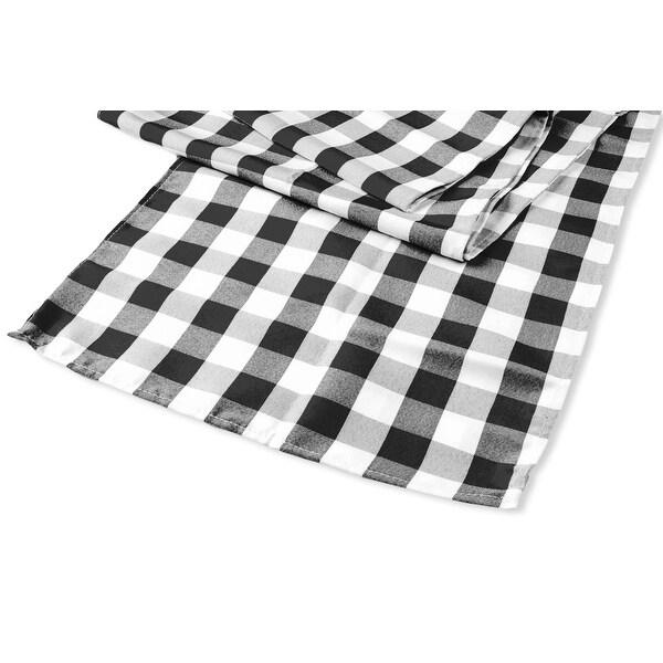 "Wedding Rosette SATIN Table Runner Approx. 12""x106"" Material: 100% Polyester - Navy Blue"
