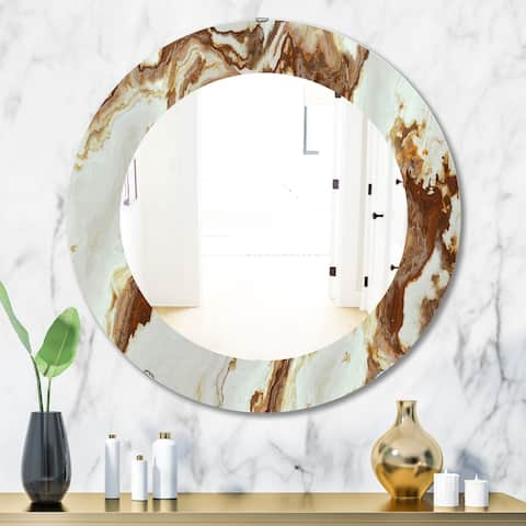 Silver Orchid Brian 'Natural Onyx Texture' Mid-Century Mirror