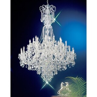 """Classic Lighting 8265-CH 72"""" Crystal All Glass Chandelier from the Bohemia Colle"""