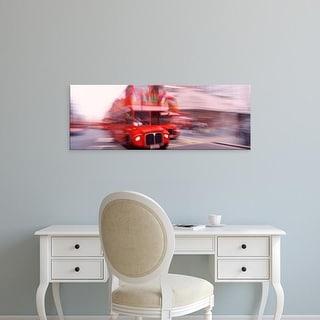 Easy Art Prints Panoramic Images's 'Double Decker Bus, London, England, United Kingdom' Premium Canvas Art