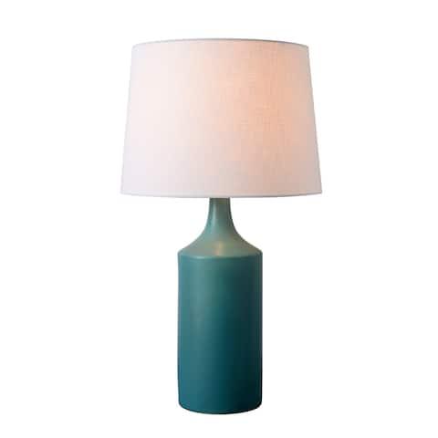 """Kendall 25.5"""" Matte Teal Ceramic Table Lamp"""
