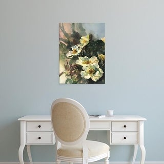 Easy Art Prints Clif Hadfield's 'Hadfield Roses II' Premium Canvas Art