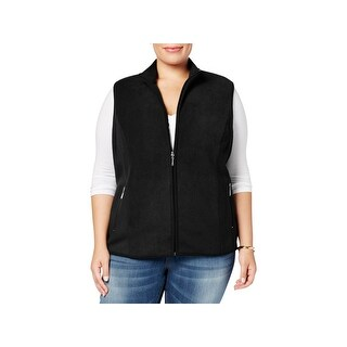 Karen Scott Womens Plus Casual Vest Fall Fleece