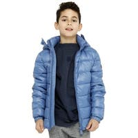 Save The Duck Lightweight Boys Jacket With Hood In Blue - 8