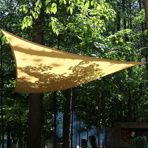 Sunnydaze Beige Triangle Sun Shade Sail - Multiple Options