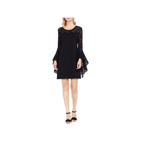 Vince Camuto Womens Cocktail Dress Lace Handkerchief Sleeves